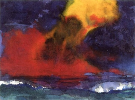 Sea with Stormy Sky ~ Emil Nolde