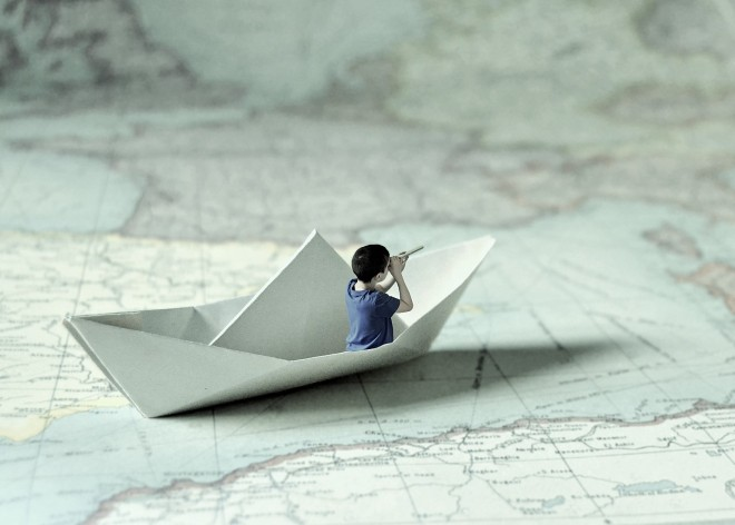 Sailing in a paper ship
